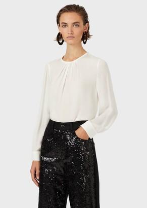 Emporio Armani Blouse In Double Silk Georgette