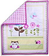 Dream On Me Baby Owl 2 Piece Playard Set, Pink/White by