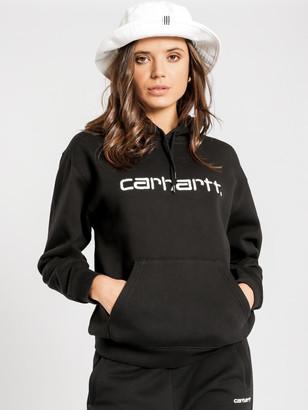 Carhartt Wip Hooded Carhartt Sweatshirt in Black White