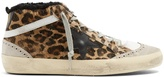 Golden Goose Deluxe Brand Mid Star leopard-print shearling-lined trainers