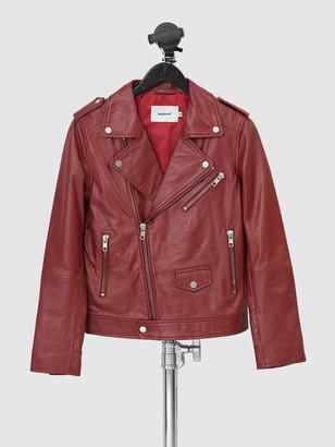 Deadwood Men's River Burgundy Leather Jacket