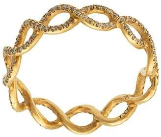 Irene Neuwirth 18kt yellow gold diamond woven ring