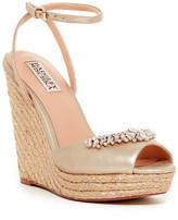 Badgley Mischka Annabel Embellished Wedge Sandal