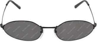 Balenciaga 0055s Invisible Oval Metal Sunglasses