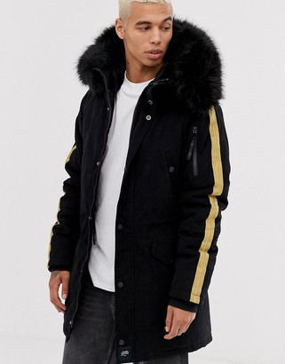 Sixth June hooded parka with faux fur hood