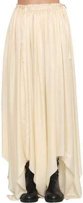 Ann Demeulemeester Asymmetric Silk Satin Skirt