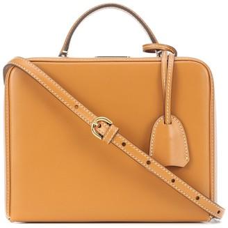 Mark Cross Grace Box Small rattan shoulder bag