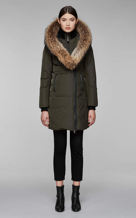 Mackage KAY MID LENGTH WINTER DOWN COAT WITH FUR COLLAR