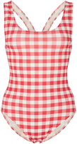 Solid & Striped Annemarie Gingham One Piece Swimsuit