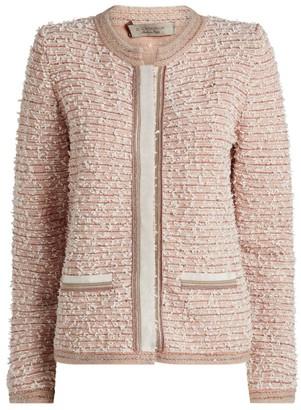 D-Exterior D.Exterior Embroidered Tweed Jacket
