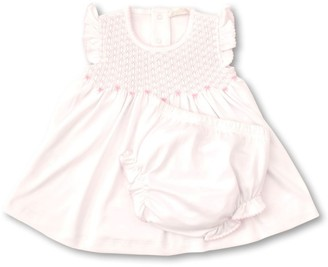 Kissy Kissy Baby Girls' Summer Bows Hand Smocked Dress & Bloomer 2-Piece Set
