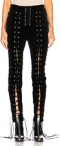 Unravel Lace Up Pants in Black.