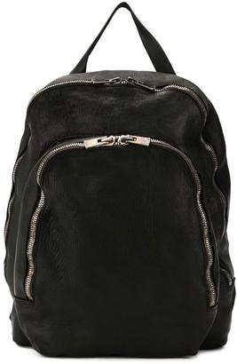 Guidi leather zipped backpacks