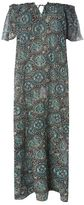 Evans Green Tile Print Gypsy Maxi Dress