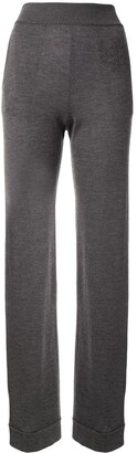 Barrie Fine Knit Flared Trousers