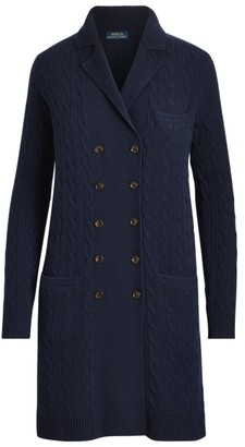 Ralph Lauren Cable-Knit Cashmere Cardigan