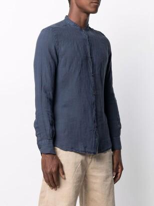 Glanshirt Band-Collar Linen Shirt