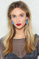 Nasty Gal Out of the Blue Rhinestone Earrings