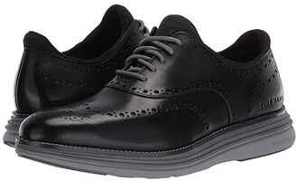 Cole Haan Original Grand Ultra Wing Ox (Black Leather/Quiet Shade/Sleet) Men's Shoes