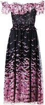 Giamba ruffle trim dress - women - Silk/Polyester - 40