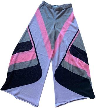 Circus Hotel Multicolour Viscose Trousers