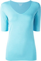 Majestic Filatures V-neck slim-fit blouse - women - Elastodiene/Viscose - 1