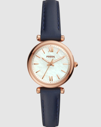 Fossil Carlie Mini Navy Analogue Watch
