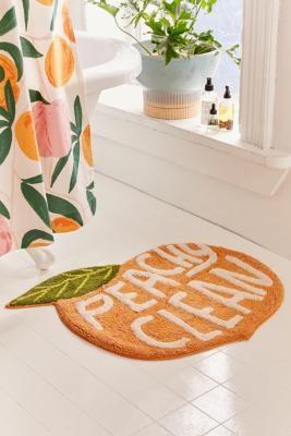 Urban Outfitters Peachy Clean Bath Mat - Pink ALL at