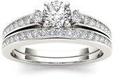 MODERN BRIDE 1 CT. T.W. Diamond 14K White Gold Bridal Set