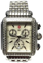 Michele Deco Stainless Steel & Ceramic White Mother of Pearl Dial 33mm Unisex Watch