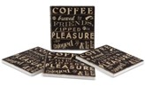 Thirstystone Coffee Quote 4-Pc. Coasters Set