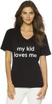 Peace Love World My Kid Loves Me V-Neck Tee