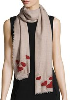 Faliero Sarti For Love Scarf with Hearts, Taupe