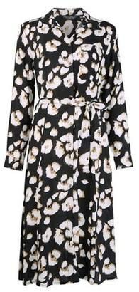 Dorothy Perkins Womens Black Animal Print Shirt Dress, Black