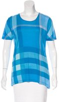 Burberry Exploded Check Short Sleeve T-Shirt