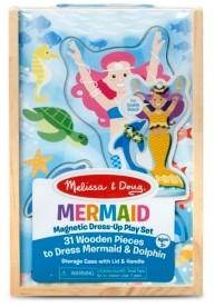 Melissa & Doug Melissa Doug Mermaid Dolphin Magnetic Dress-Up Wooden Dolls Pretend Play Set 35 pcs