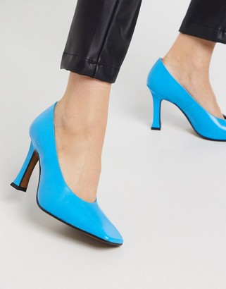 CHIO court shoes in blue leather