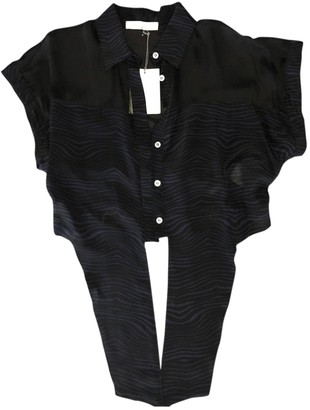 Pierre Balmain Black Silk Top for Women