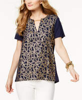 MICHAEL Michael Kors Chain-Print Tunic,a Macy's Exclusive Style