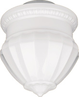 Rejuvenation Neoclassical 12in. Opal Acorn Shade