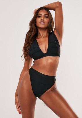 Missguided Bandage Plunge Bikini Top