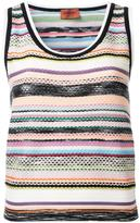 Missoni striped knitted tank