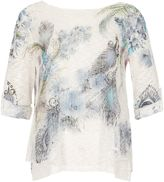 Izabel London Layered Feather Jumper Top