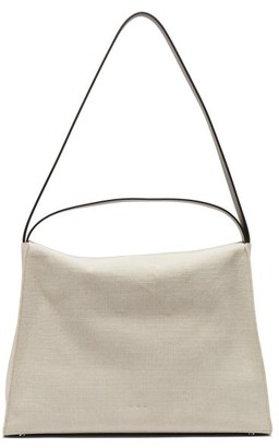 Aesther Ekme New Duffle Linen And Leather Shoulder Bag - White