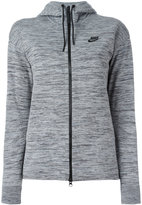 Nike zip hooded cardigan - women - Cotton/Nylon - S
