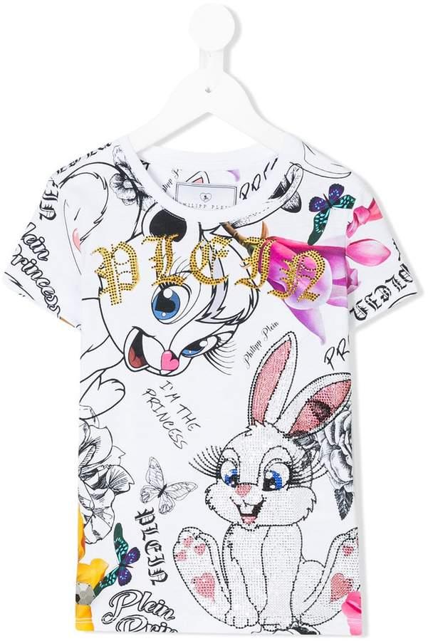 Philipp Plein Junior mixed-print T-shirt