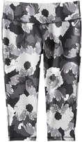 Joe Fresh Women's Print Crop Active Legging, Light Teal (Size XS)