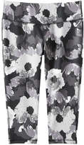 Joe Fresh Women's Print Crop Active Legging, Silver (Size M)