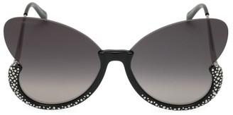 Swarovski 56MM Butterfly Crystal Sunglasses