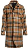 Burberry Vintage Check Alpaca Wool Car Coat